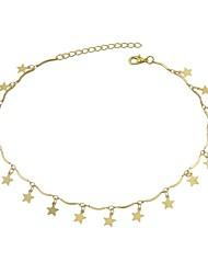 preiswerte -Damen Stern Halsketten  -  Einfach Freizeit Gold 36cm Modische Halsketten Für Party / Abend Schultaschen