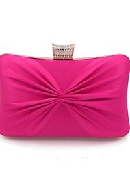 Недорогие -Жен. Мешки Шелк Вечерняя сумочка Кристаллы Черный / Пурпурный