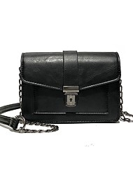 cheap -Women's Bags Shoulder Bag Zipper for Casual Black / Brown / Khaki