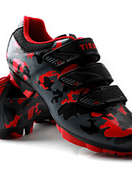 cheap -Tiebao® Men's Mountain Bike Shoes Nylon and Carbon Fiber Anti-Slip, Wearable PVC Leather Road Cycling Black / White / Black / Red
