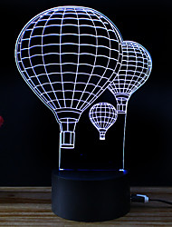 billige Originale lamper-3D nattlys Endring Usb Stress og angst relief Dekorasjon Verneutstyr Kreativ Fargeskiftende DC 5 V 3D