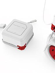 abordables -toma de corriente del cargador de corriente usb inteligente conexión iec compatible 1pc
