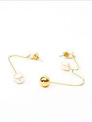 cheap -Women's Pearl Drop Earrings - Pearl Korean White For Gift / Daily