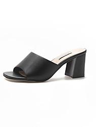 abordables -Femme Chaussures Gomme Eté Confort Sandales Marche Talon Bottier Blanc / Noir / Beige