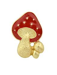 cheap -Women's Mushroom Brooches - Basic / Fashion Red Brooch For Daily / Date