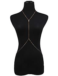 baratos -Corrente de Barriga / Corrente Corporal - Mulheres Dourado Sensual / Fashion / Bikini Bijuteria de Corpo Para Bikini / Para Noite