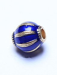 cheap -DIY Jewelry 1pcs Beads , Enamel Alloy Blue Oval Bead 0.8cm DIY Necklace Bracelet