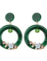 cheap -Women's Drop Earrings / Hoop Earrings - Drop, Flower European, Fashion Light Yellow / Red / Green For Party / Evening / Street