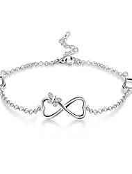 abordables -Femme Zircon Chaînes & Bracelets - Argent sterling Fleur, Nœud, Infini Classique, Rétro, Elégant Bracelet Argent Pour Mariage Soirée