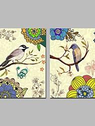 baratos -Cópias da lona esticada tradicional, dois painéis de lona horizontal impressão panorâmica decoração da parede decoração de casa