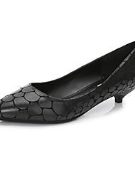 Недорогие -Жен. Обувь Полиуретан Весна Осень Удобная обувь Обувь на каблуках На шпильке Заостренный носок для Офис и карьера Черный Серый Красный