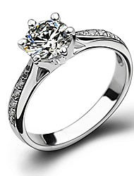 cheap -Cubic Zirconia Band Ring / Knuckle Ring - Copper Snowflake Classic, Fashion 5 / 6 / 7 Silver For Wedding / Party