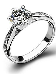 preiswerte -Kubikzirkonia Bandring / Knöchel-Ring - Kupfer Schneeflocke Klassisch, Modisch 5 / 6 / 7 Silber Für Hochzeit / Party