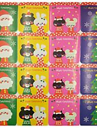 baratos -Férias Etiquetas, Etiquetas e tags - 20pcs Natal Corte quadrado Autocolantes Inverno