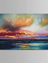 abordables -Peinture à l'huile Hang-peint Peint à la main - Paysage Contemporain simple Moderne