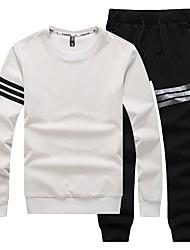 baratos -Homens Básico Moletom activewear Set Sólido