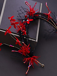 cheap -Alloy Headdress with Crystal / Satin Flower / Lace 1pc Wedding / Special Occasion Headpiece