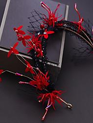 Недорогие -Сплав Аксессуары для волос с Кристаллы / Цветы из сатина / Кружева 1шт Свадьба / Особые случаи Заставка