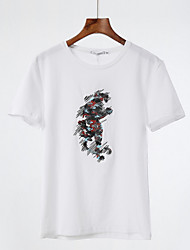 billige -Herre - Geometrisk Basale T-shirt