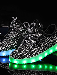 cheap -Boys' / Girls' Shoes Knit / Tulle Summer / Fall Light Up Shoes Sneakers LED for Kid's Black / Gray