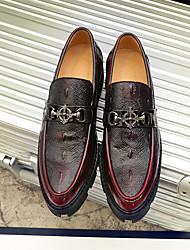 abordables -Homme Chaussures Tulle Automne / Hiver Chaussures de plongée Mocassins et Chaussons+D6148 Blanc / Noir / Rouge