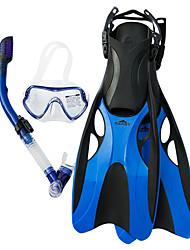 billige -SBART Snorklepakker / Dykning Pakker - Dykning Maske, Dykkerfinner, snorkel - Dry top, Lange svømmefødder Svømning, Dykning Silikone  Til Voksen