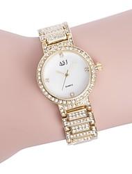 baratos -ASJ Mulheres Bracele Relógio Japanês Relógio Casual / imitação de diamante Aço Inoxidável Banda Luxo / Elegante Prata / Dourada / Dois anos / SSUO 377