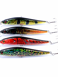 cheap -4pcs pcs Minnow Fishing Lures Popper Hard Bait ABS Outdoor Sports & Outdoors Sea Fishing Fly Fishing Bait Casting Spinning Jigging
