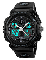cheap -SKMEI Men's Sport Watch Japanese Water Resistant / Water Proof / Stopwatch / Cool PU Band Black