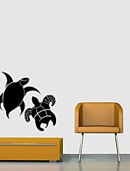 abordables -Tatuajes de pared Calcomanías Decorativas de Pared - Pegatinas de pared de animales Animales Puede Cambiar de Ubicación Removible