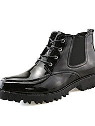 cheap -Men's Shoes PU Spring / Fall Comfort / Fashion Boots Boots Black / Wedding