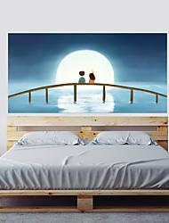 Недорогие -Наклейка на стену Декоративные наклейки на стены - 3D наклейки Пейзаж 3D Положение регулируется Съемная