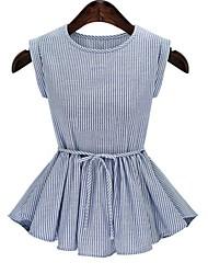 cheap -Women's Basic T-shirt - Striped Bow