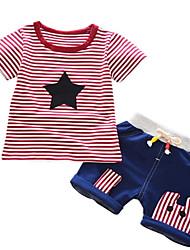 cheap -Kids Boys' Striped Short Sleeves Clothing Set