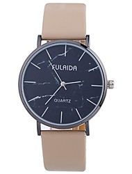 cheap -Women's Fashion Watch Quartz Large Dial PU Band Analog Casual Minimalist Black / White / Blue - Fuchsia Brown Pink One Year Battery Life