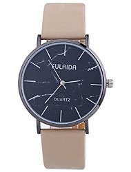 baratos -Mulheres Relógio de Moda Chinês Mostrador Grande PU Banda Casual / Minimalista Preta / Branco / Azul / Um ano