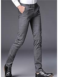 billige -Herre Forretning Pæne bukser Bukser Ruder