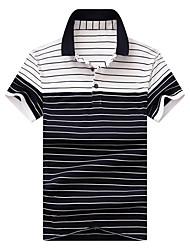 cheap -Men's Basic Street chic Polo - Striped