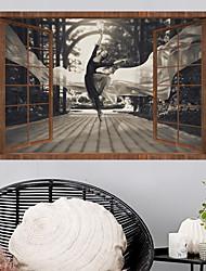 voordelige -Muurtattoo Decoratieve Muurstickers - 3D Muurstickers Landschap 3D Verstelbaar Verwijderbaar