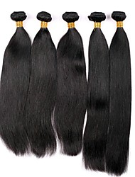 cheap -6 Bundles Malaysian Hair Straight Virgin Human Hair Natural Color Hair Weaves / Tea Party Favors Human Hair Weaves Fashionable Design / Soft / Hot Sale Natural Color Human Hair Extensions Women's