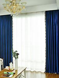 povoljno -Blackout Zavjese Zavjese Living Room Jednobojni Pamuk / poliester Yarn Dyed