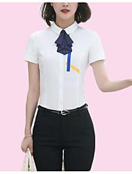 preiswerte -Damen Solide-Geschäftlich Grundlegend Hemd