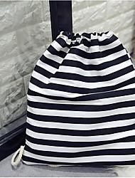 Недорогие -Жен. Мешки холст рюкзак С отверстиями Темно синий / Желтый / Черно-белый