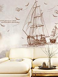 Недорогие -Декоративные наклейки на стены - Наклейки для животных Пейзаж Море Гостиная Спальня Ванная комната Кухня Столовая Кабинет / Офис