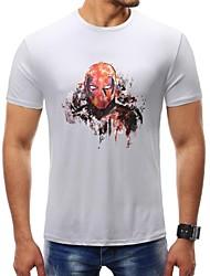 baratos -Homens Camiseta Básico Estampado,Retrato