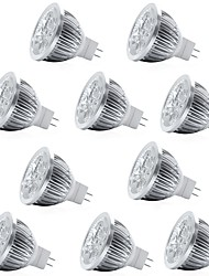 cheap -10pcs 4W 400lm MR16 LED Spotlight 4 LED Beads High Power LED Decorative Warm White Cold White 12V