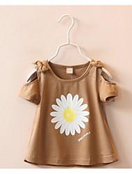 cheap -Girls' Floral Short Sleeves Tee