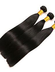 abordables -Cabello Brasileño Recto Extensiones Naturales Cabello humano teje Extensión / Gran venta Negro Natural Todo