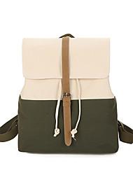 Недорогие -Жен. Мешки холст рюкзак Узоры / принт Зеленый / Черный / Серый