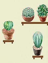 Недорогие -Декоративные наклейки на стены - Простые наклейки Цветочные мотивы / ботанический Гостиная Спальня Ванная комната Кухня Столовая Кабинет